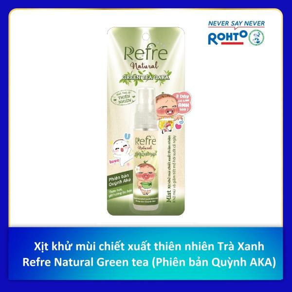 Xịt Khử Mùi Refre Natural Green Tea Hương Trà Xanh 30Ml (Phiên bản Quỳnh Aka) cao cấp