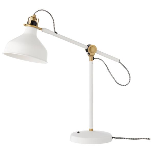 Đèn đọc sách, làm việc để bàn RANARP IKEA - màu trắng