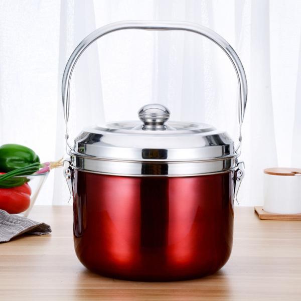 Nồi ủ nhiệt chân không đế gang BG-304 6.8L nấu cơm, nấu cháo, hầm xương dùng cho mọi loại bếp