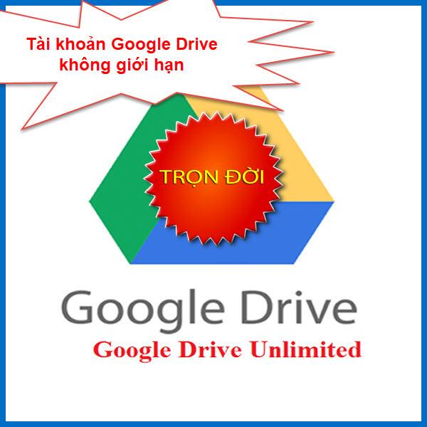 Giá Tài khoản Google Drive Không giới hạn được chọn username tặng Onedrive 5TB