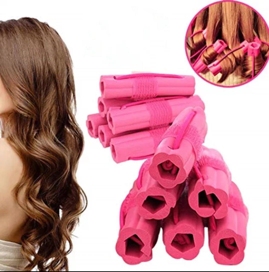 Lô uốn tóc Bọt biển 6 ống siêu mềm tạo kiểu tóc NIGHT SET CURLER - tóc xoăn siêu tự nhiên