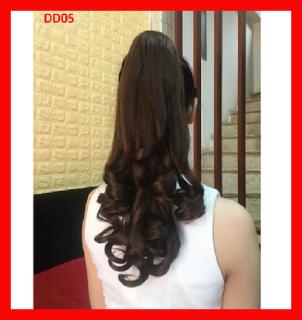Đuôi tóc giả nữ xoăn lọn đep thời trang cao cấp xoăn đuôi ngựa - 45cm