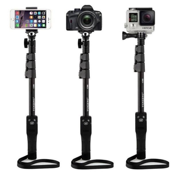 Gậy chụp ảnh Bluetooth Yunteng XH1288 kết nối không dây bấm nút điều khiển từ xa qua phim cho iPhone Samsung Oppo Xiaomi,AK