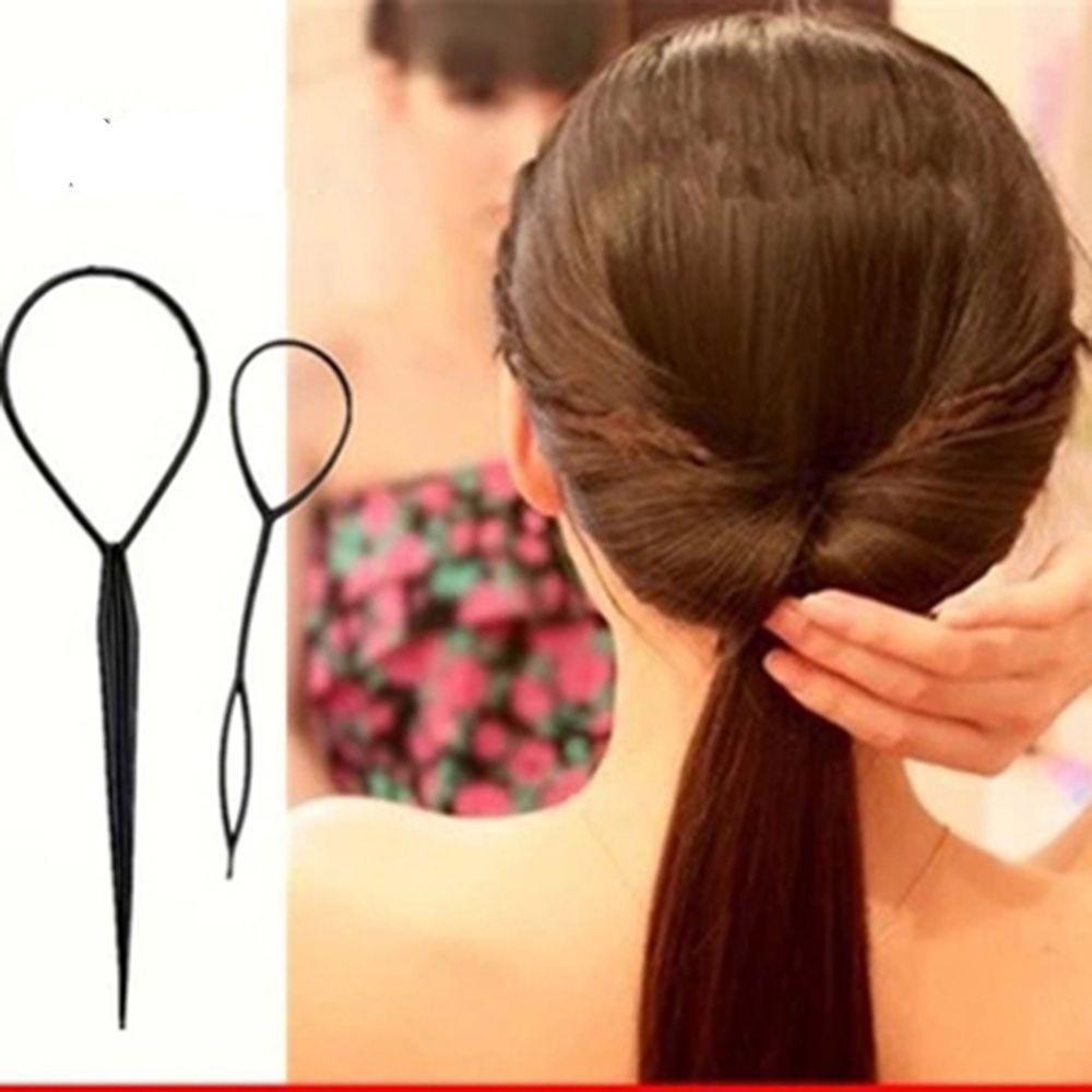 Bộ 2 dụng cụ tạo kiểu tóc , rút tóc (đen)