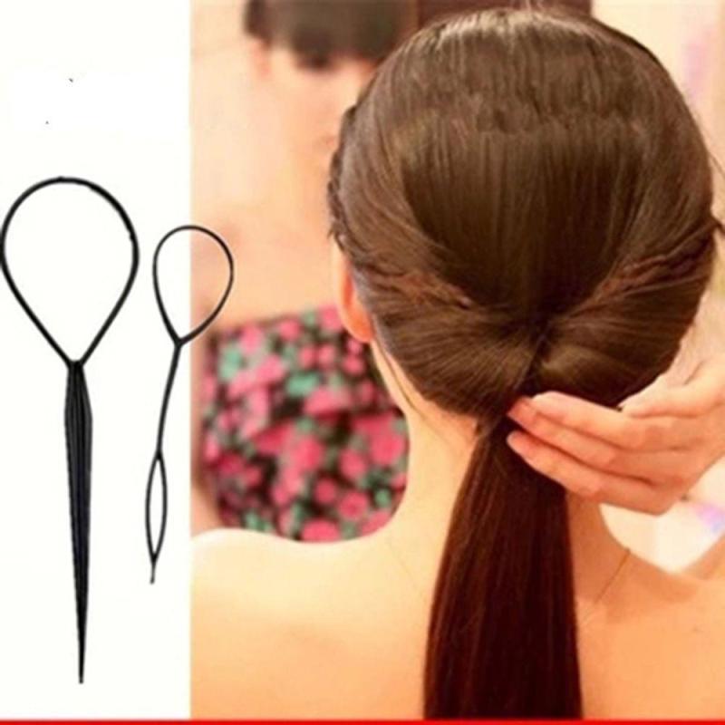 Bộ 2 dụng cụ tạo kiểu tóc , rút tóc (đen) nhập khẩu