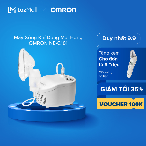 Máy Xông Khí Dung  Mũi Họng OMRON NE-C101 cao cấp