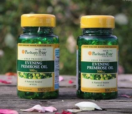 Dầu hoa anh thảo 500mg tăng cường nội tiết nữ, trị mụn, đẹp da, hạ huyết áp, mỡ máu Evening Primrose Oil 500mg 100 viên nang của Puritans Pride HSD: 3/2021
