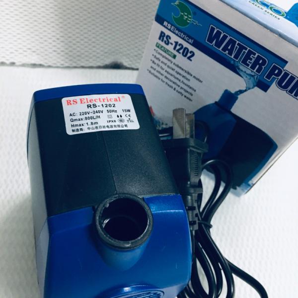 Máy bơm bể cá RS-1202 hàng tốt, 15W 800L/H
