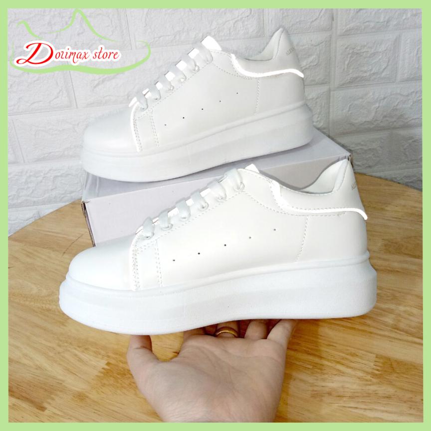 Giày nữ phản quang MQ mẫu mới hót hit chất liệu da mềm thoáng khí, đế cao su đúc siêu êm cao 4cm, phù hợp cho mọi hoạt động - Dozimax store giá rẻ