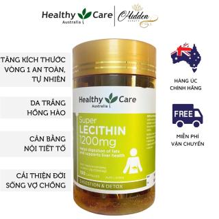 Mầm đậu nành tăng vòng 1 Healthy Care Super Lecithin đẹp da, cân bằng nội tiết tố, hộp 100 viên- Hidden Beauty thumbnail