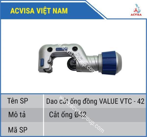 Dao Cắt Ống Đồng Value Model: VTC - 42