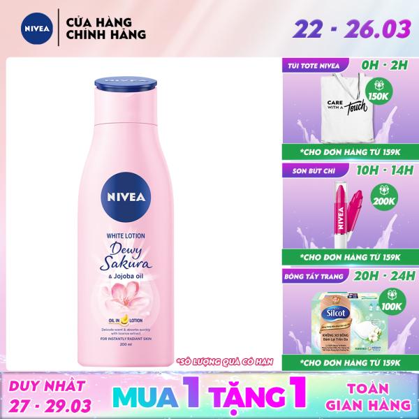 Sữa dưỡng thể dưỡng trắng da Nivea Dewy Sakura (200ml) - 85701 giá rẻ