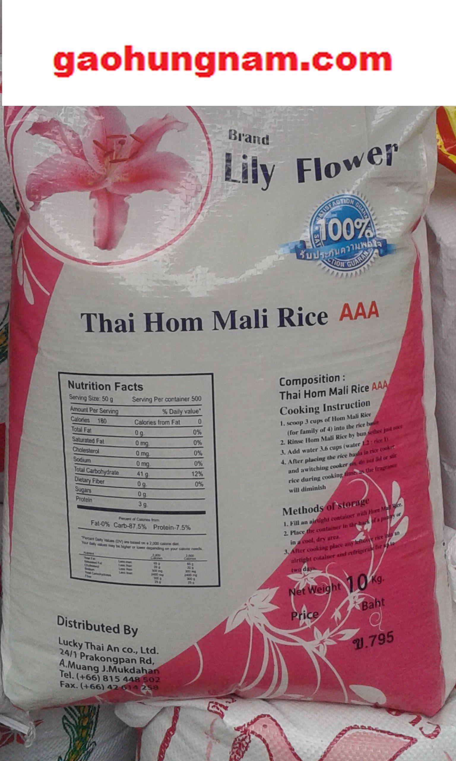 Deal Giảm Giá Gạo Thái Lan Hom Mali Hoa Ly 10kg - Gaohungnam.com - Gạo Hưng Nam - Chỉ Bán Tại Hà Nội