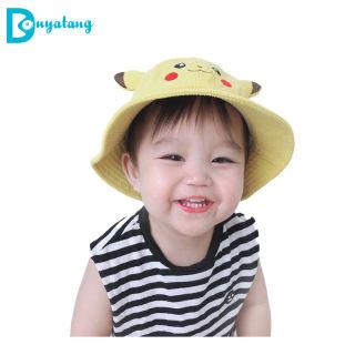 Children Của Trai Hat, Xô Hat Mũ Che Nắng Mùa Xuân Và Mùa Thu, Mũ Bồn Rửa Trẻ Em Pikachu Đáng Yêu