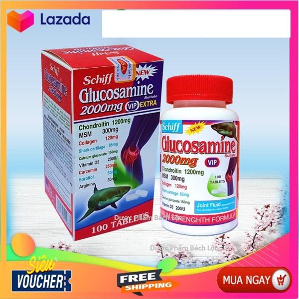 Hộp 100 viên Nhập Khẩu Mỹ] Viên uống bổ xương khớp Glucosamine 2000mg - Giảm đau nhức mỏi khớp, giảm thoái hóa khớp