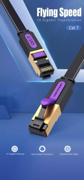 Bảng giá Vention dây cáp mạng LAN Ethernet Cat7 loại dẹp có bọc chống nhiễu dài 20m tốc độ cao Phong Vũ