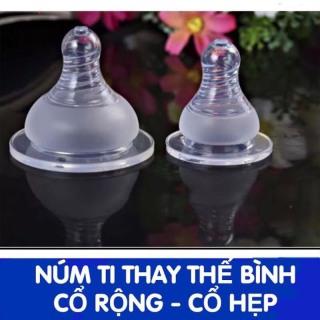 Núm ti thay thế bình GB Baby cổ rộng và 1 số bình cổ rộng tương tự Núm ty silicon siêu mềm đủ size thumbnail