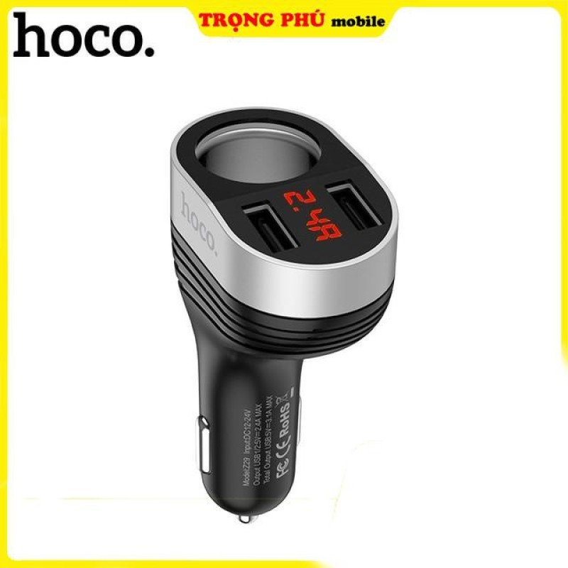 .T.ẩ.u. sạc điện thoại ô tô mở rộng cao cấp Hoco Z29, sản phẩm tốt, chất lượng cao, cam kết như hình, độ bền cao