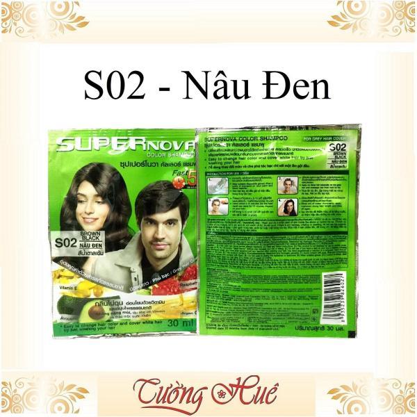 Gói gội nhuộm thảo dược Super Nova Thái Lan Color Shampoo - 30ml