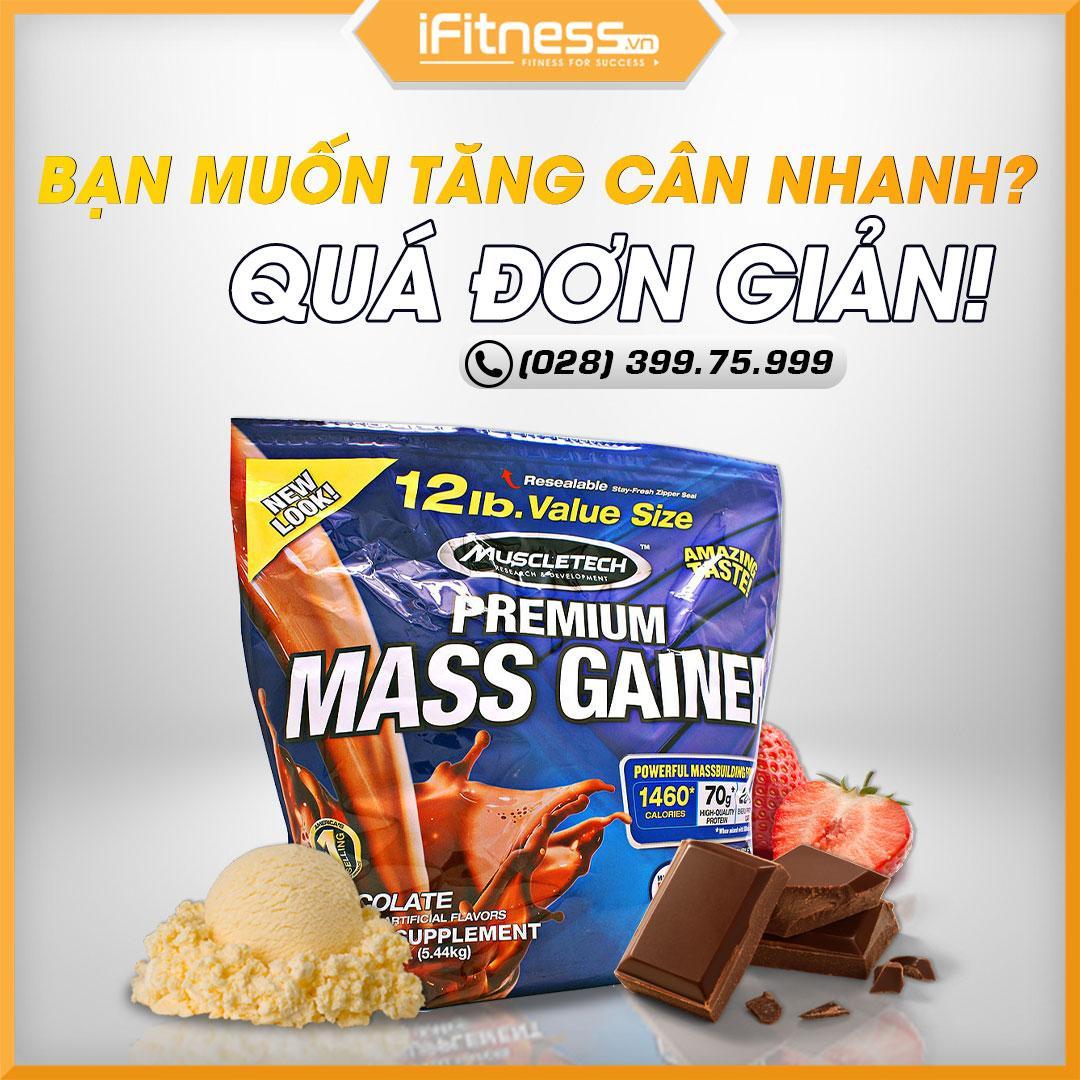 Sữa Tăng Cân Muscletech Premium Mass Gainer Chocolate 5.44kg nhập khẩu
