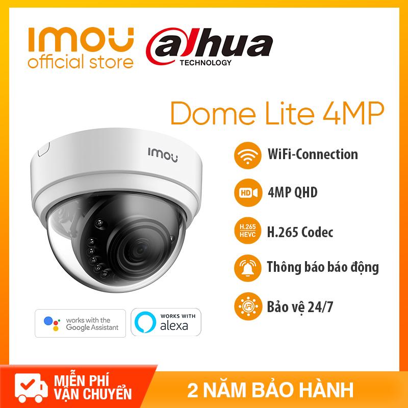 DAHUA CAMERA IPC WIFI IMOU D42P - Độ phân giải 4MP QHD-Chuẩn nén H. 265+ Tầm nhìn ban đêm lớn+Thông báo báo động+ Bảo hành chính hãng 2 năm