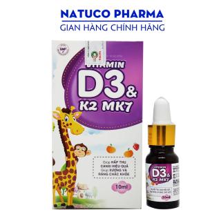 Vitamin D3 K2 Mk7 nhỏ giọt - Hàng chính hãng - giúp bé hấp thụ canxi tăng trưởng chiều cao cân nặng tăng sức đề kháng hộp 10ml thumbnail