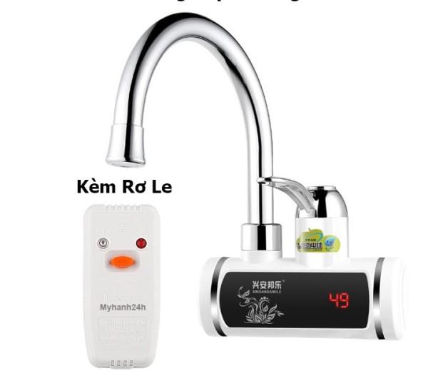 Vòi Rửa Bát Nóng Lạnh Gắn Tường-Máy nước nóng trực tiếp tại vòi RMB làm nóng NHANH trong 3 giây + Tặng kèm Rơ le chống giật ELCB chống rò điện, tự động ngắt điện chống giật, Bảo hành 6 tháng toàn quốc