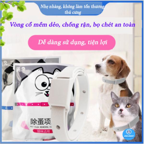 Vòng cổ chống ve rận bọ chét chó mèo không thấm nước hiệu quả cao [Vòng cổ chó mèo][PD PET]