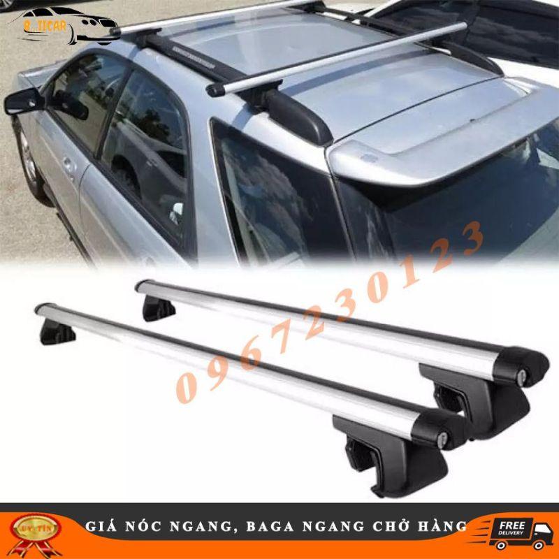Cặp giá nóc ngang, baga mui chở hàng trên xe ô tô 120cm có khóa thanh hợp kim chịu được tải trọng 100kg