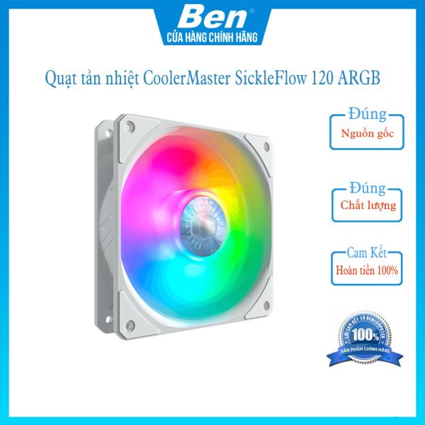 Bảng giá Quạt tản nhiệt CoolerMaster SickleFlow 120 ARGB - White - Ben Computer Store Phong Vũ