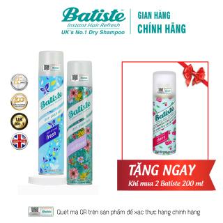 [COMBO HÈ CỰC CHẤT] Mua 2 chai Dầu Gội Khô Batiste Dry Shampoo 200ml - Tặng ngay 1 chai nhỏ 50ml thumbnail