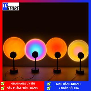 Đèn Chiếu Hoàng Hôn Mới 2021 Đèn Ngủ Xoay Sạc USB, Cầu Vồng Cho Phòng Ngủ Trang Trí Tường Nền Đèn Chiếu Cầu Vồng Tiệc Sinh Nhật Đám Cưới thumbnail