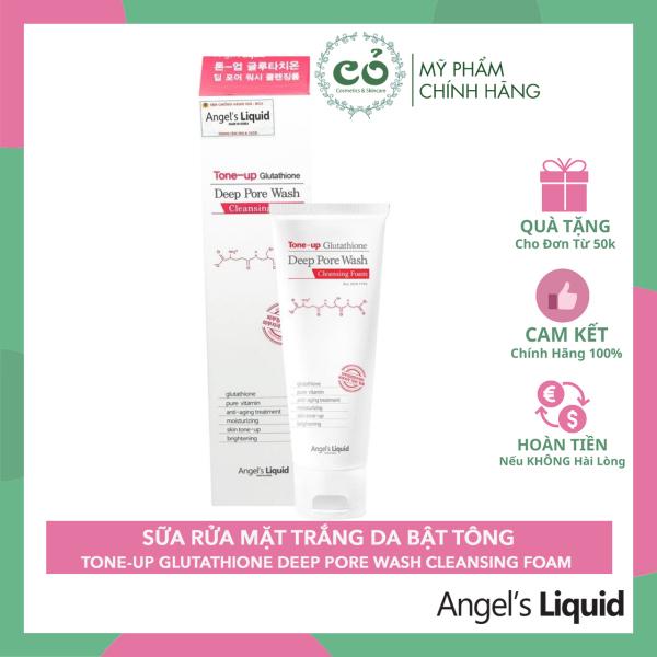 Sữa rửa mặt angel's liquid Glutathione tone up deep pore wash cleansing foam thành phần của sản phẩm hoàn toàn lành tính và an toàn cho người sử dụng cao cấp