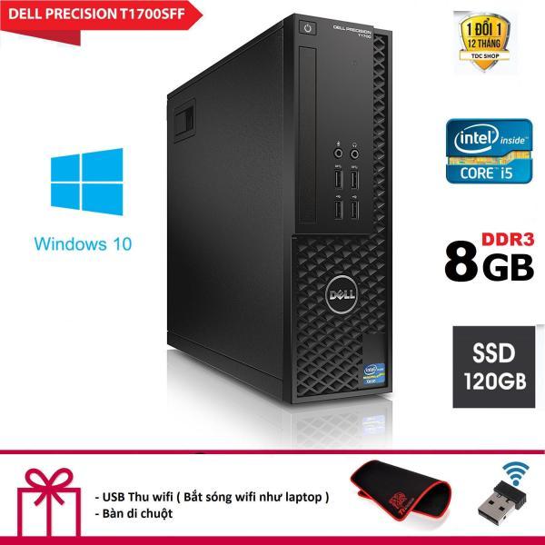 Bảng giá [Trả góp 0%]Máy tính để bàn Dell Precision T1700 SFF CPU intel core i5 4570 - Ram DR3 8GB - Ổ cứng SSD 120GB. Tặng Bàn Di Chuột và USB Thu Wifi. Phong Vũ