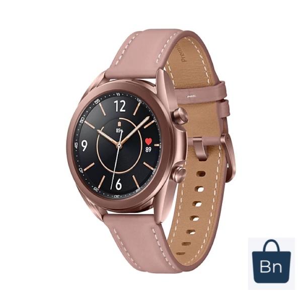 Đồng hồ Samsung Galaxy Watch 3 41mm viền thép hồng dây da