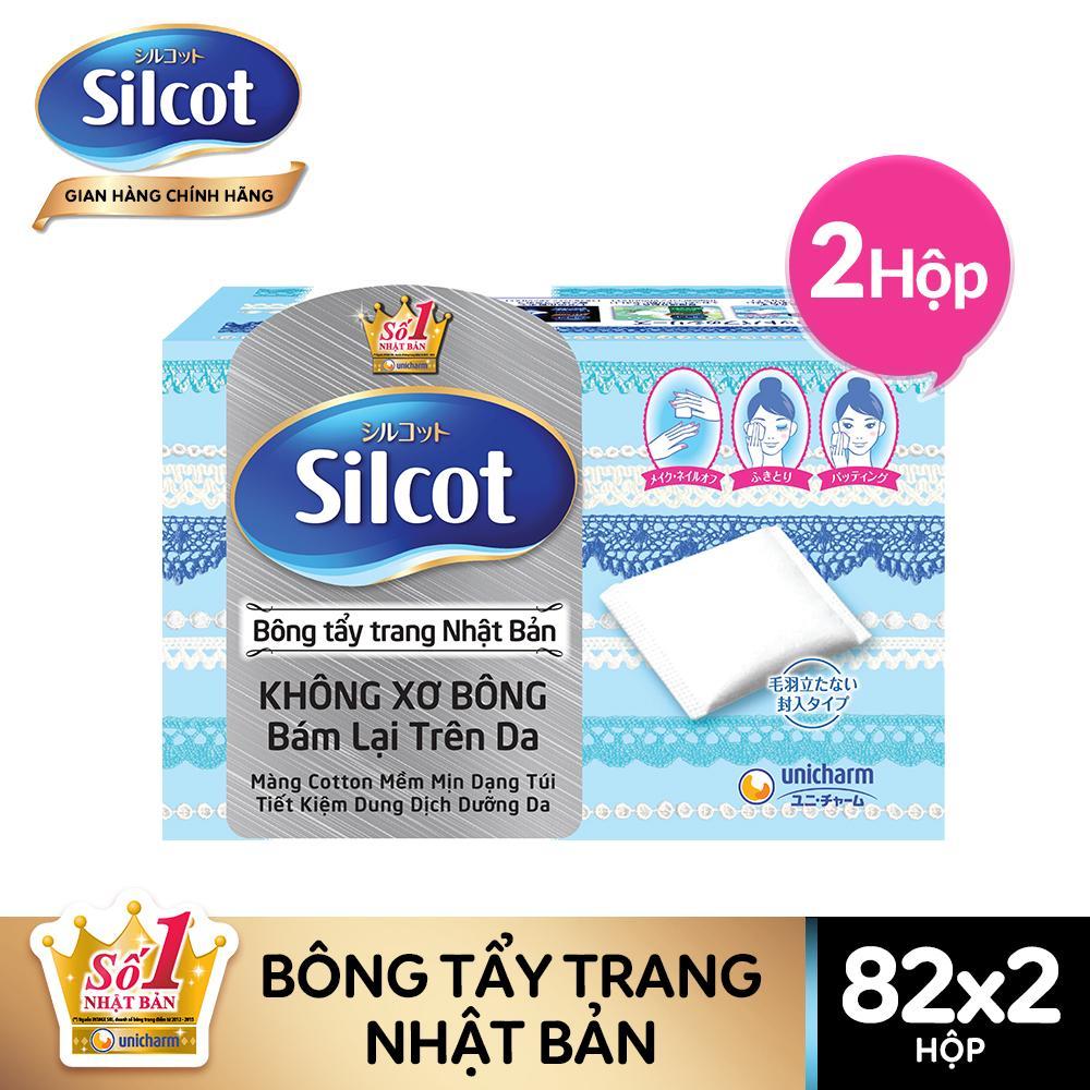 Bộ 2 hộp Bông tẩy trang Silcot 82 miếng/hộp - TUSC00004CB