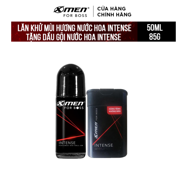 Lăn khử mùi X-Men for Boss Intense 50ml (Tặng Dầu gội nước hoa X-Men for Boss Intense 85g) giá rẻ