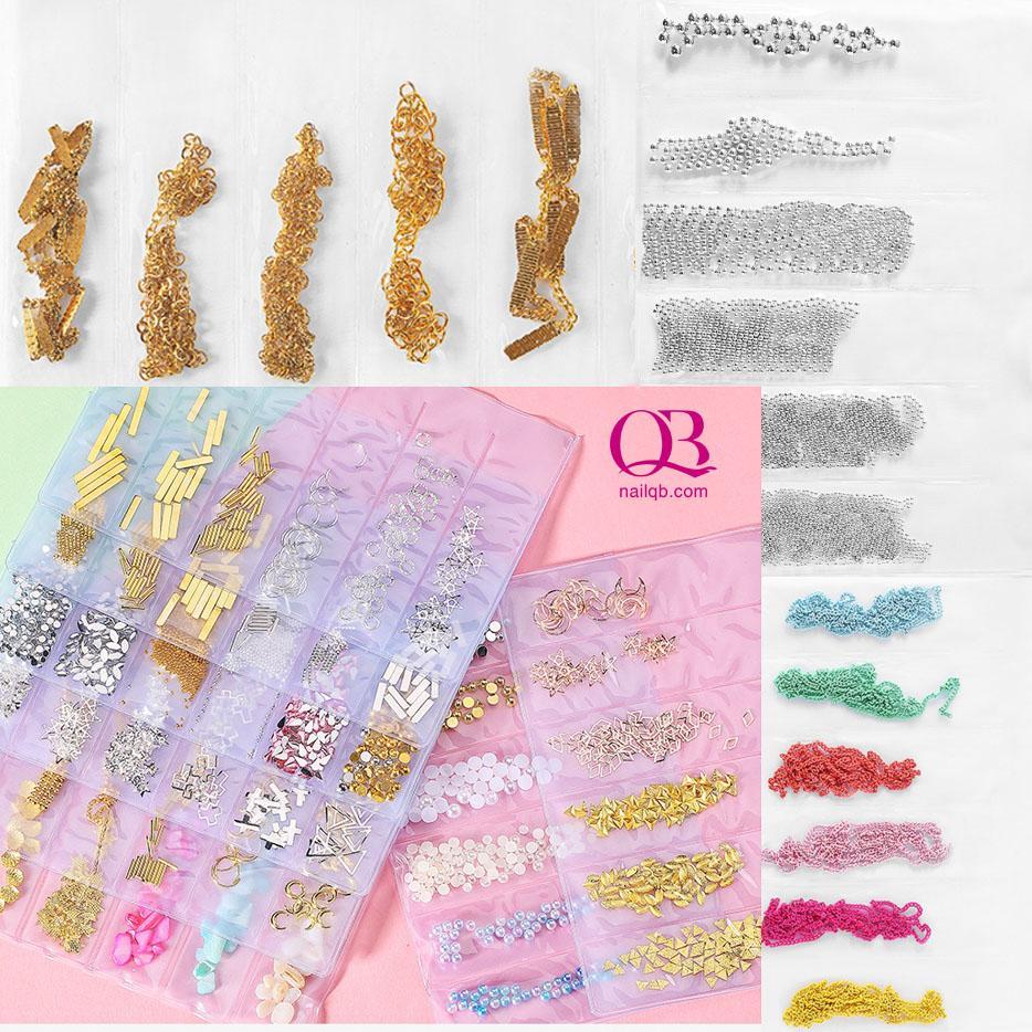 Charm, chuỗi bi, chuỗi dây, xích trang trí móng túi 6 ngăn nhập khẩu
