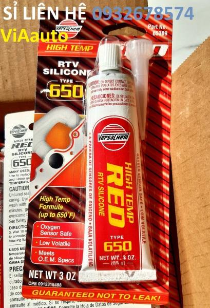Keo đỏ chính hãng Versachem USA Versachem 65309 Low Volatile High Temperature Red Silicone - 3 oz