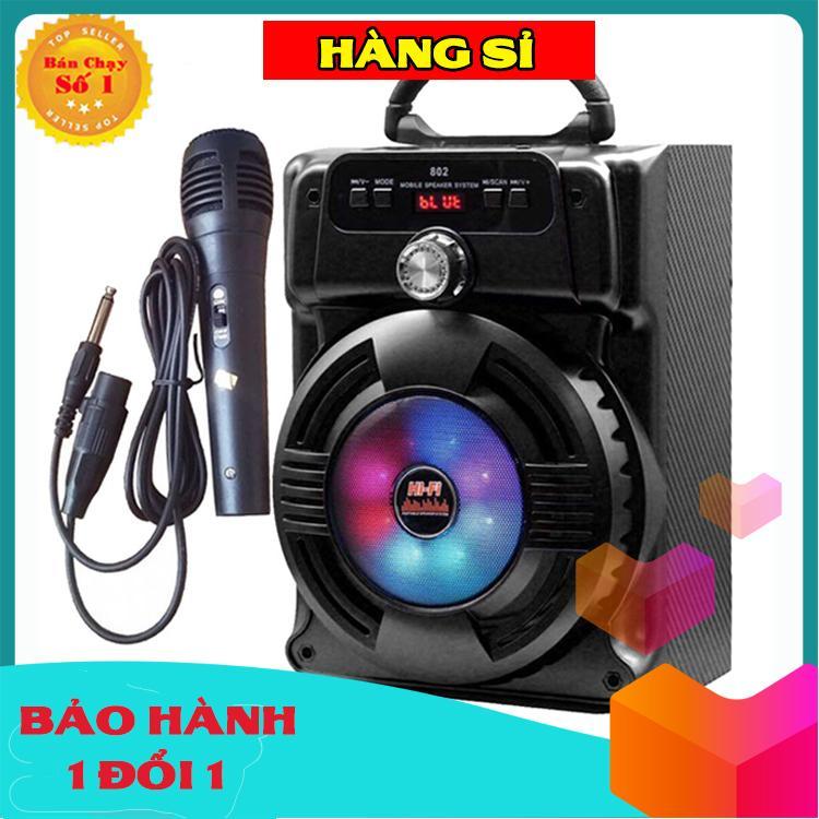 Loa Kẹo Kéo Có Mic Hát Karaoke Nghe Nhạc Bluetooth, Loa Bluetooth, Loa Karaoke cắm thẻ nhớ, nghe đài FM
