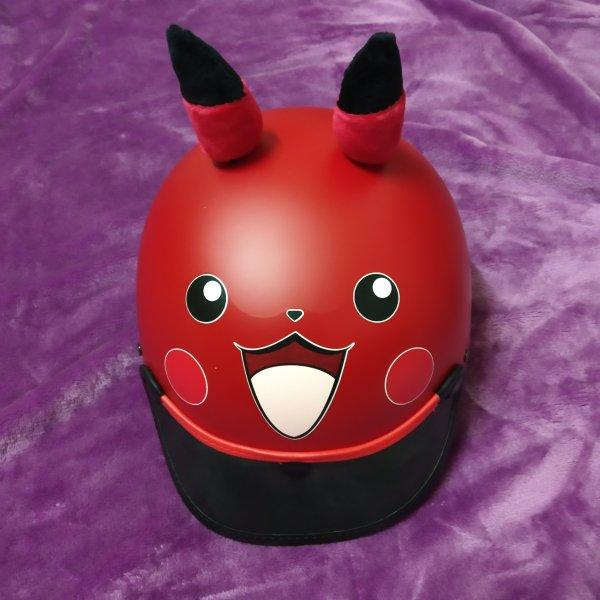 Giá bán Nón Bảo Hiểm Trẻ Em 6-15 Tuổi - Mũ Bảo Hiểm hình pikachu dễ thương