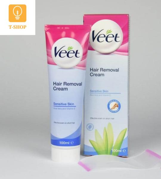 Kem Tẩy Lông Veet Pháp 100ml Tẩy lông tay, tẩy lông chân, tẩy lông nách hiệu quả _Thành phần tự nhiên cho da nhạy cảm