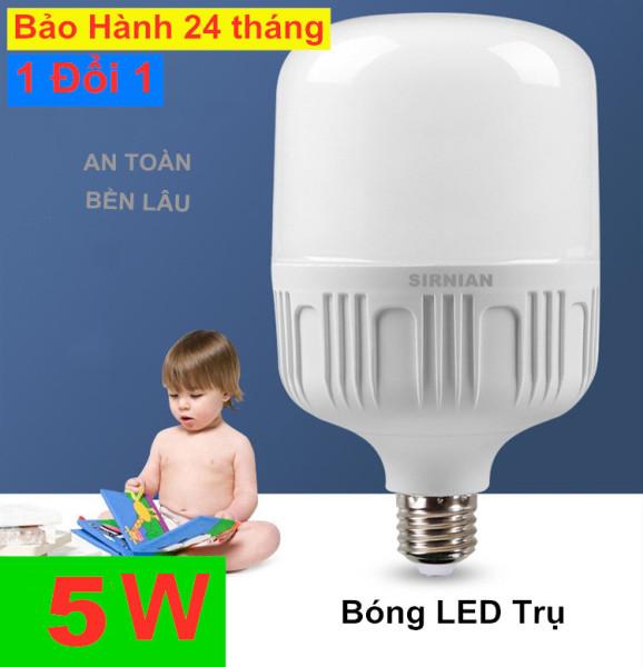 Bóng đèn Led trụ  LED bulb 5W  10W 20W 30W 40W 55W Trấng siêu sáng tiết kiệm điện đuôi E27, Bảo hành: 24 tháng