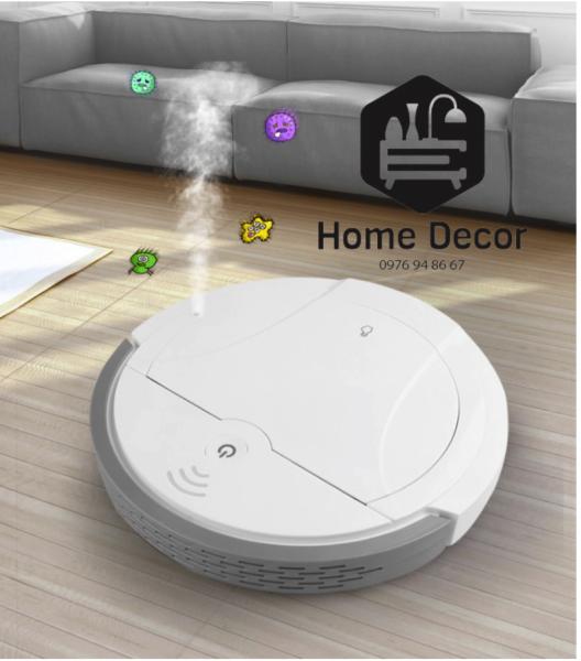Máy hút bụi FUJUKI thông mình kết hợp 5 trong 1 (hút bụi, quét nhà, lau nhà, phun khử trùng, xông tinh dầu).