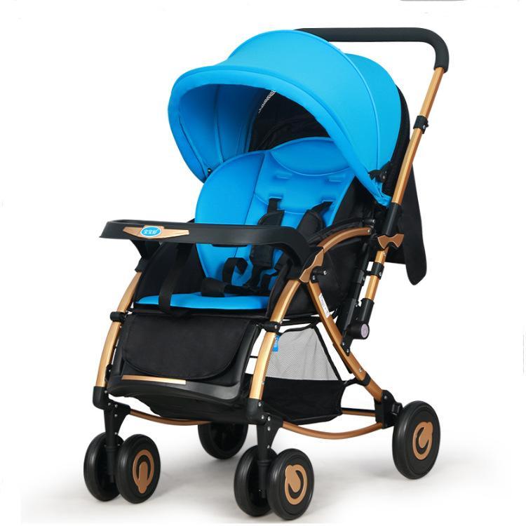 Xe đẩy trẻ em cao cấp 2 chiều Baobaohao-C3 - ba tư thế có bập bênh (Tím,Xanh) - Màu Tím...