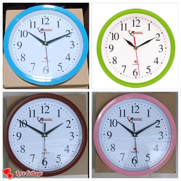 Nơi bán đồng hồ treo tường thiết kế tinh tế 27cm màu xanh dương +xanh lá+nâu +hồng
