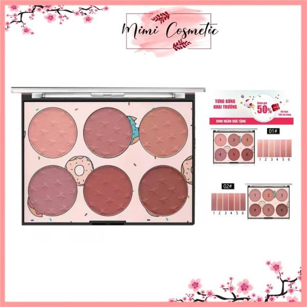 Phấn Trang điểm nội địa trung - Phấn má hồng Sweet Candy Miss Rose Blush Glow Kit, gồm 6 màu cực yêu. giá rẻ