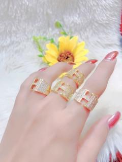 Nhẫn nữ mạ vàng 18K JK Silver - cho độ sáng lấp lánh cao ,cam kết không đen , không bay màu, không gây dị ứng, thích hợp đi tiệc, làm quà tặng, dây chuyền nữ ,bông tai nữ,nhẫn nữ, vong tay nuU.nhan45 thumbnail