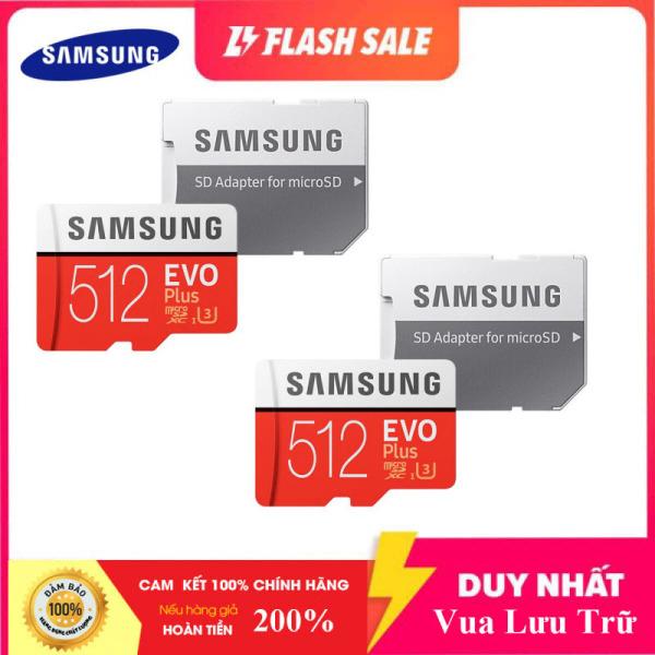 Combo Giá Hot 2 Thẻ nhớ MicroSDXC Samsung Evo Plus 512GB U3 4K R100MB/s W90MB/s - box Anh New 2020 (Đỏ) + Kèm Adapter