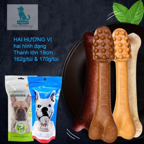 Xương gặm cho chó YaHo 170g - Xương bàn chải sạch răng thơm miệng bổ sung canxi, dinh dưỡng cho chó chống cắn